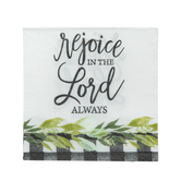 Rejoice Buffalo Check Paper Napkins - Small
