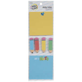 Pencil & Square Sticky Notes