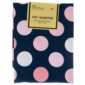 Pink & Navy Dot Fat Quarter