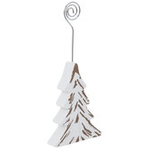 White Christmas Tree Place Card Holder