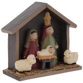 Cartoon Nativity Scene