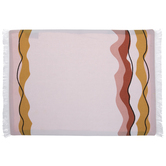 Pink & Mustard Wavy Lines Placemat