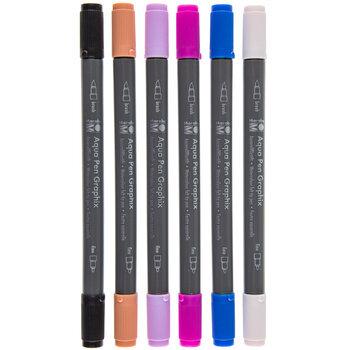 Aqua Pen Graphix Watercolor Felt Tip Pens