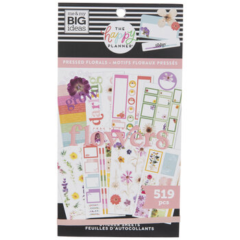 Pressed Floral Happy Planner Stickers