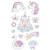 Castle & Unicorn Rhinestone Stickers