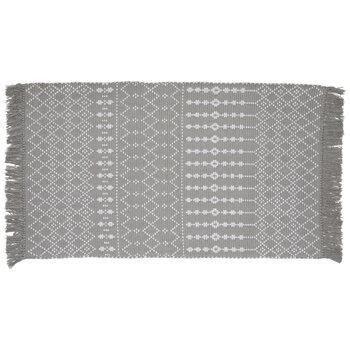Gray & White Florence Pattern Rug