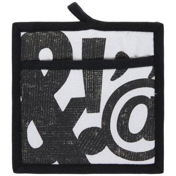 Black & White Punctuation Pot Holder