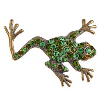 Frog Rhinestone Brooch