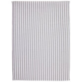White & Gray Striped Tablecloth