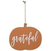 Grateful Pumpkin Ornament