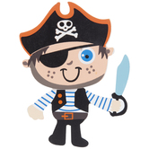 Pirate Boy Painted Wood Shape