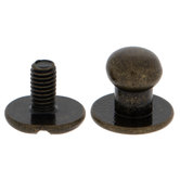 Antique Brass Button Studs & Posts