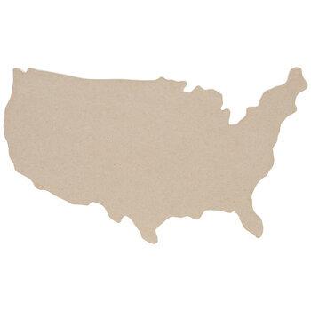 Paper Mache United States Map