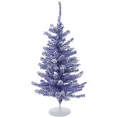 Lavender Frosted Mini Christmas Tree