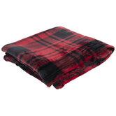 Red & Black Buffalo Check Velvet Throw Blanket