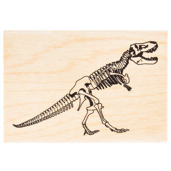 T-Rex Fossil Rubber Stamp