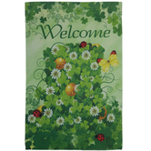 Welcome St Patrick's Day Garden Flag