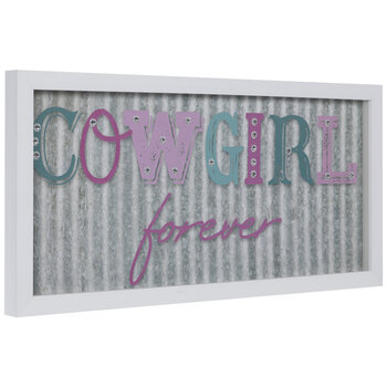 Cowgirl Forever Framed Wood Wall Decor