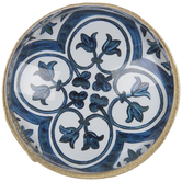Blue & White Florentine Metal Knob