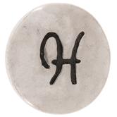 Hammered Alphabet Snap Charm - H