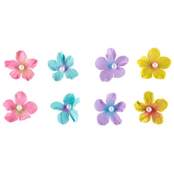 Pearl Petite Paper Flower Embellishments