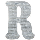 Corrugated Metal Letter Wall Decor - R