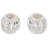 Sterling Silver Fluted Beads - 5mm