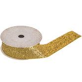 """Gold Metallic Velvet Ribbon - 1"""""""