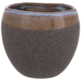 Gray Rimmed Oblong Wall Container