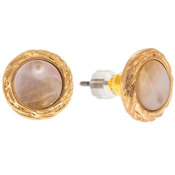 White Round Shell Earrings