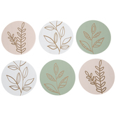 Engraved Plant Wood Coasters