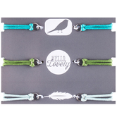 Turquoise, Green & Light Blue Connector Bracelets