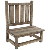 Distressed Bench Wood Plant Stand