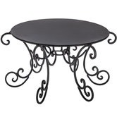 Black Round Metal Scroll Cake Stand