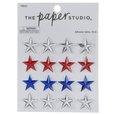 Patriotic Star Rhinestone Stickers