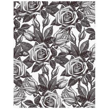 "Black Floral Vellum Paper - 8 1/2"" x 11"""