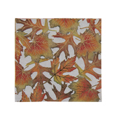Orange & Green Leaves Foil Napkins - Small