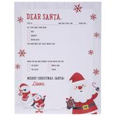 """Dear Santa Scrapbook Paper - 8 1/2"""" x 11"""""""