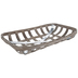 Distressed Brown Wood Tobacco Basket - Large
