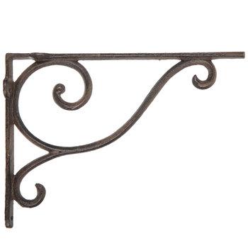 Brown Simple Swirl Metal Wall Bracket