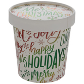 Christmas Foil Words Paper Snack Cups - Large