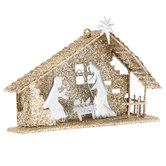 Holy Family Glitter Ornament