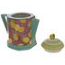 Multi-Color Lemons Striped Teapot