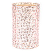 Pink Dotted Mercury Glass Candle Holder