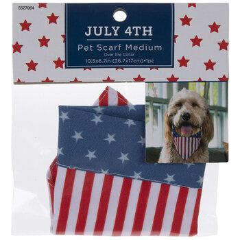 American Flag Pet Scarf - Medium
