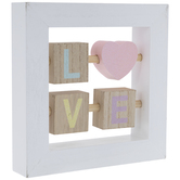 Love Sliding Blocks Wood Decor