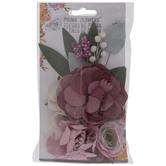 Purple Garden Prima Flower Embellishments