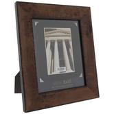 """Wide Wood Veneer With Black Edge Frame - 8"""" x 10"""""""