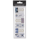 Joyful Floral Page Flags & Binder Clips
