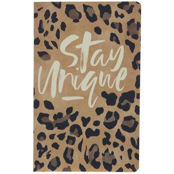 Stay Unique Leopard Print Bullet Journal